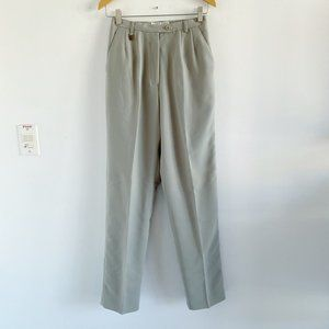 high waisted sage green trousers